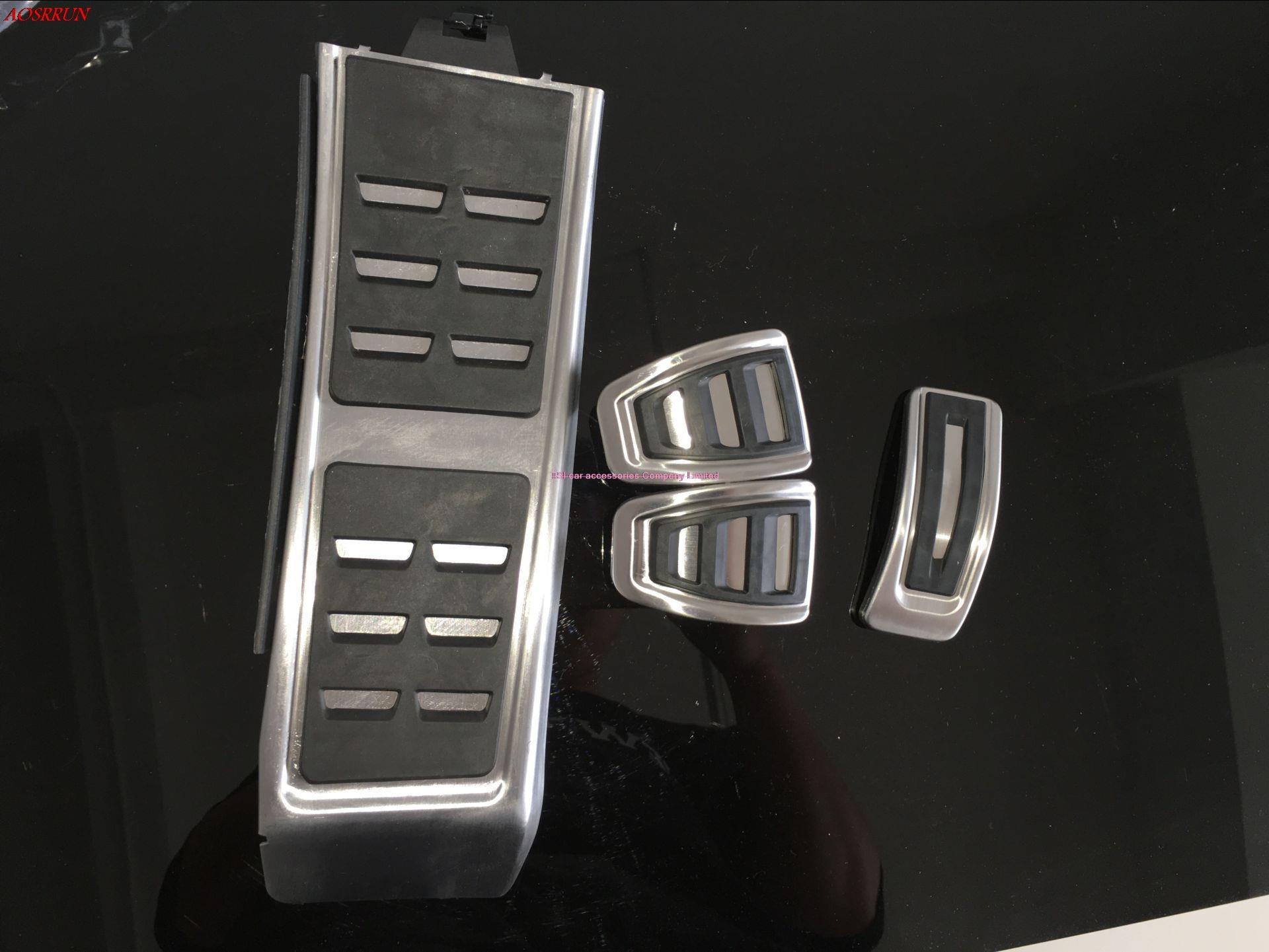 Manuellement pédale d'accélérateur de gaz frein et repose-pieds pédale pour Audi A4 S4 B8 A5 S5 RS5 Q5 SQ5 A6 S6 RS6 A7 S7 C7 RS7 voiture-style