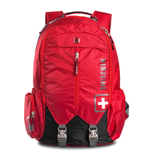 Mode und Beliebte Notebook Rucksack reisetasche wasserdichte große kapazität bag pack schweizer laptop taschen rot schwarz grau SW9176