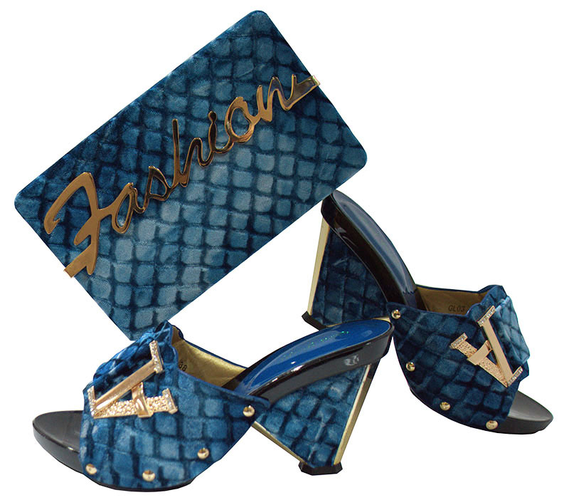 Blue African shoe and bag set for party Italian shoe with matching bag new design ladies matching shoe and bag GL03 doershow italian shoe with matching bag for party african shoe and bag set new design ladies shoe and bag to match set pme1 14