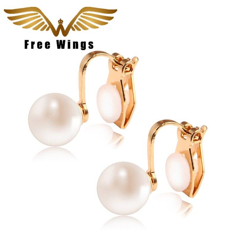 8844800a472b0 Ear Cuff Clip sobre brincos de Ouro Pérola Sem Piercing Para mulheres Moda Jóias  Brinco Punhos