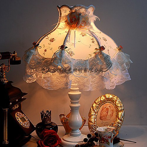 Lovely Lace Bedroom Lamp Top Grade Cozy Lamp Table Lamp Romantic