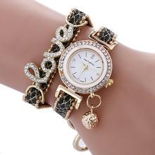 купить 2018 New watches bracelet watch women wrist watches Hot sale fashion luxury bead pendant women Wristwatches Relogio Feminino дешево