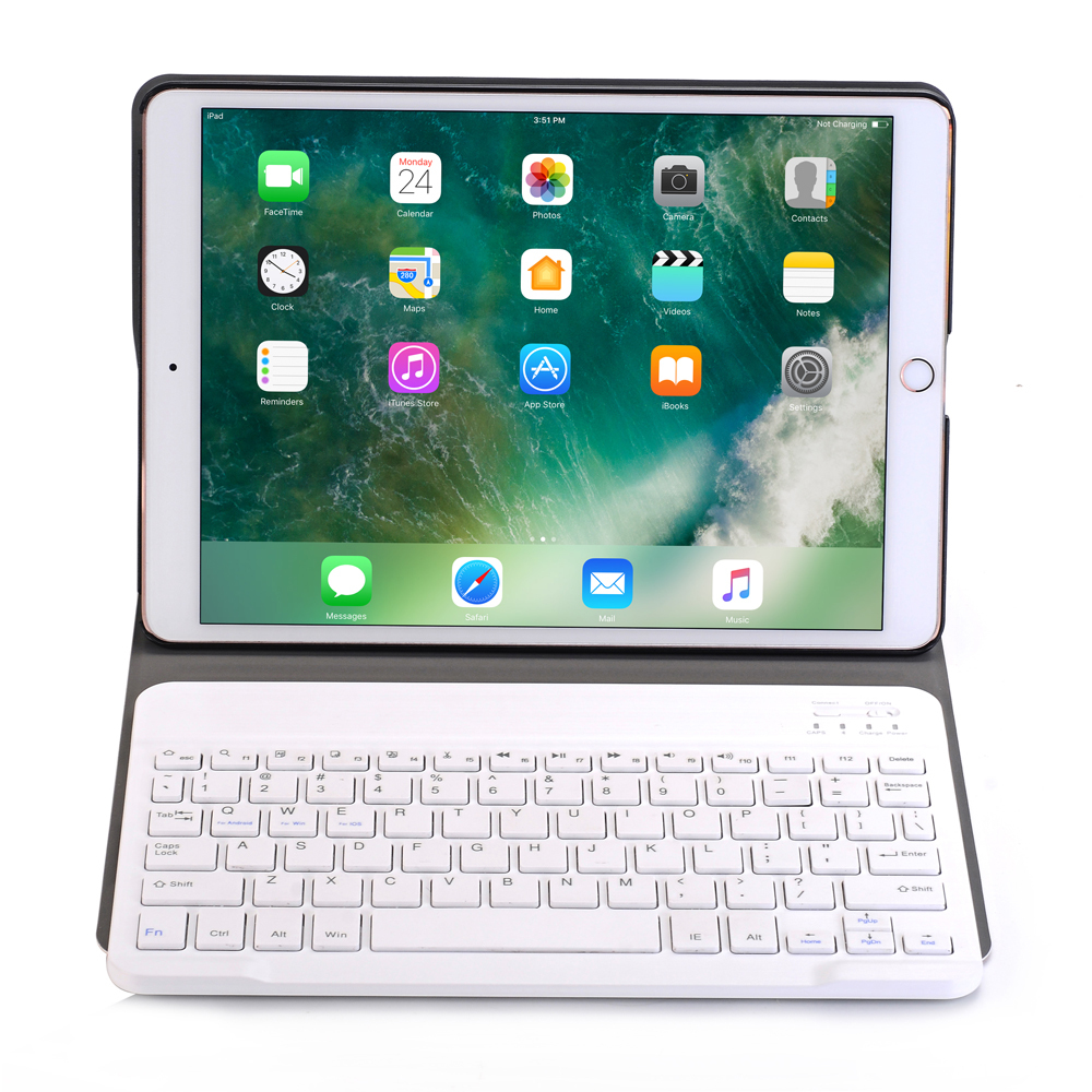 new 2017 For iPad Pro 10.5 Wireless Bluetooth Keyboard + PU Leather Cover Protective Smart Case + Stylus