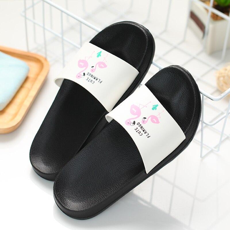 d25835e704f37b 2018 Women Slippers Summer Slides Flamingo Cartoon Lovely Beach Slipper  Platform Sandals Women Shoes Flip Flops Zapatillas Mujer-in Slippers from  Shoes on ...