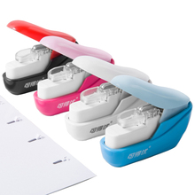 Stapler Grampeador De Papel About 10 Sheets Paper Engrapadora Papel  Papeterie Office Machine  Student Gift Staple-free stapler cute stationery students nail free staple free stapleless stapler safe stapler paper stapling stapler without staple bookbinding