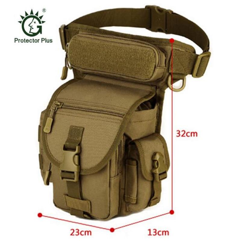 Men's bags waterproof nylon thigh leg left hip legs package travelling bag Male waist Military motorcycles package SLR bag