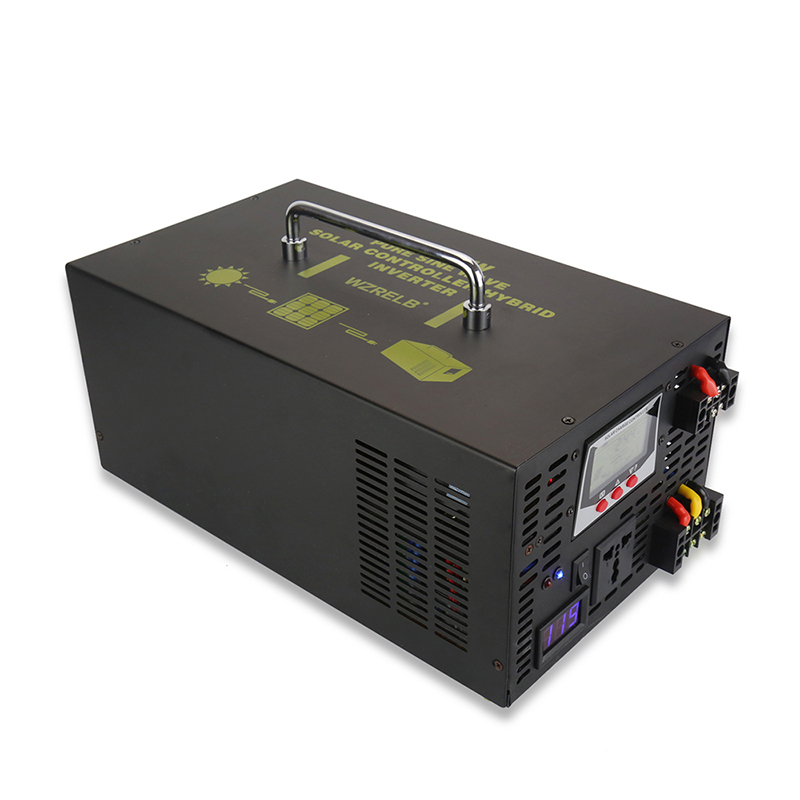 цена на Pure Sine Wave Solar Inverter 3000W 12V/24V DC to 120V/220V/230V/240V AC Car Power Inverter Hybrid Inverter 30A Solar Controller