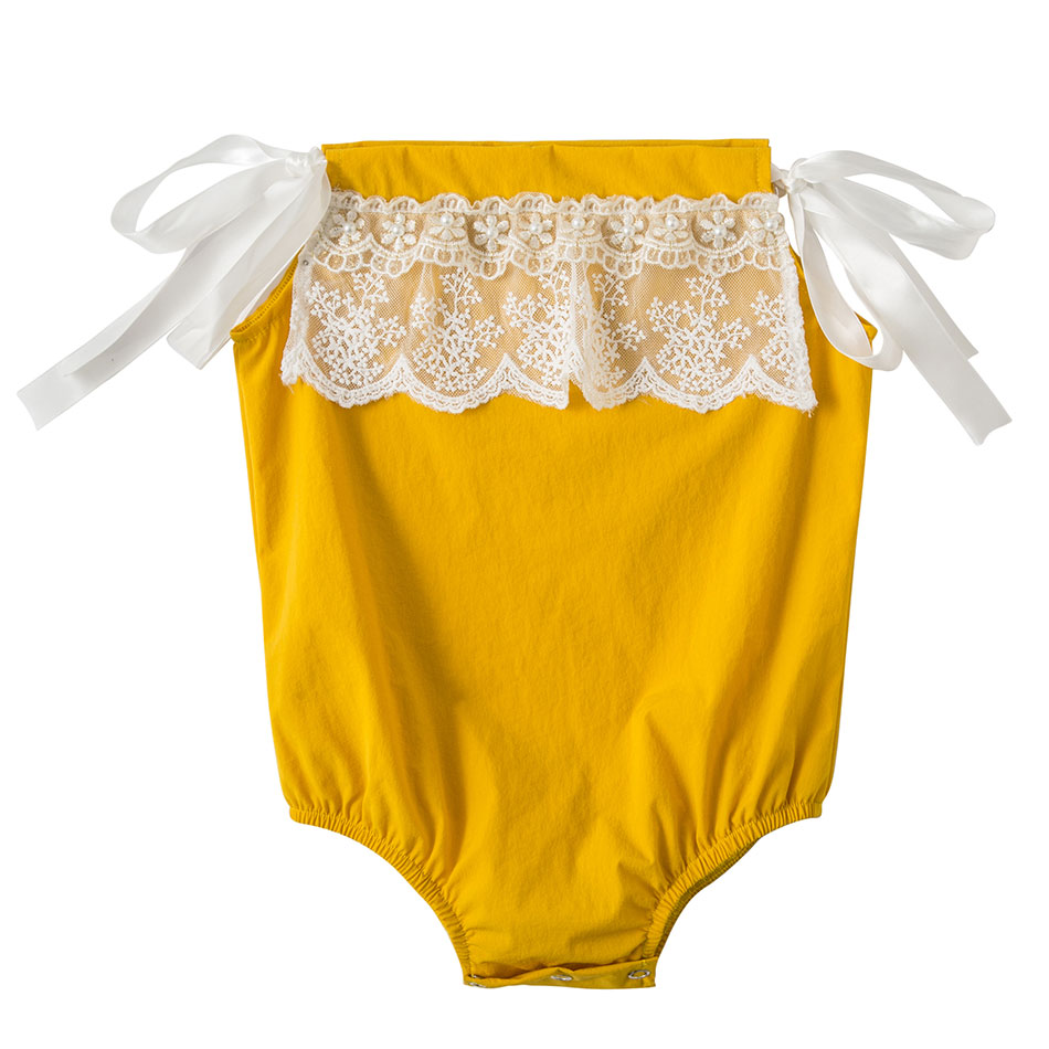 Infant Baby Clothes Baby Girl Clothes Bodysuit Newborn Toddler Baby Girl Rompers Cotton Children Clothing Lace Girl Onesie