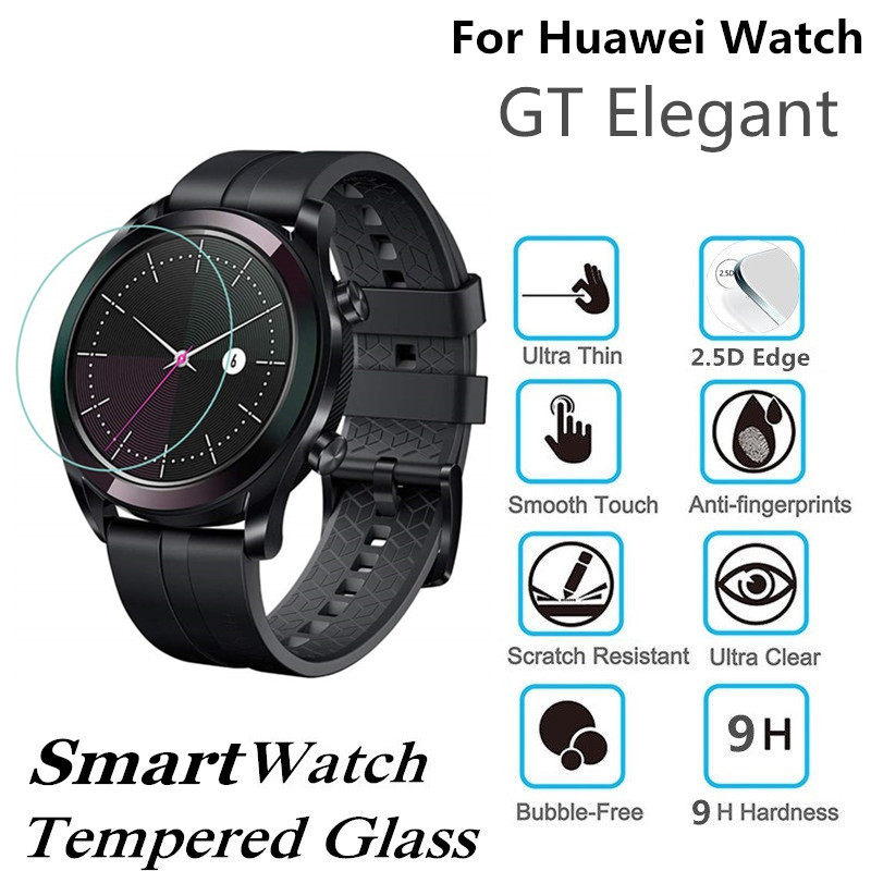 da8b0c714 100PCS Tempered Glass for Huawei Watch GT Elegant Smart Watch Screen  Protector D32mm Protective Film