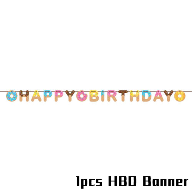 1set HBD Banner Monkey 1st birthday decorations 5c64f9ae5e23e