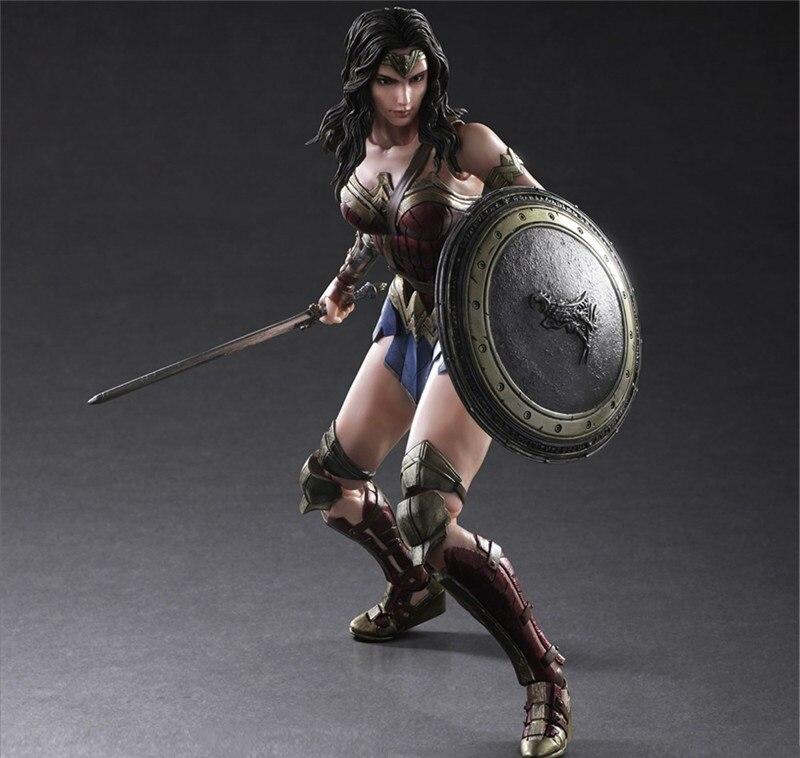High Quality Wonder Woman Desktop Decoration Figure Dolls Birthday Gift For Fans, Super Hero Avengers cute resin dolls toy desktop decoration