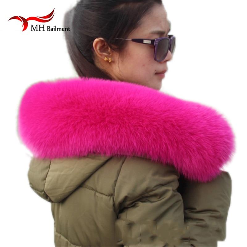 Real Fox Fur Collar Women 100% Natural Fox Fur Scarf Winter Teplý Natual Fur Collar pro ženy Kabát odepínací šály L24