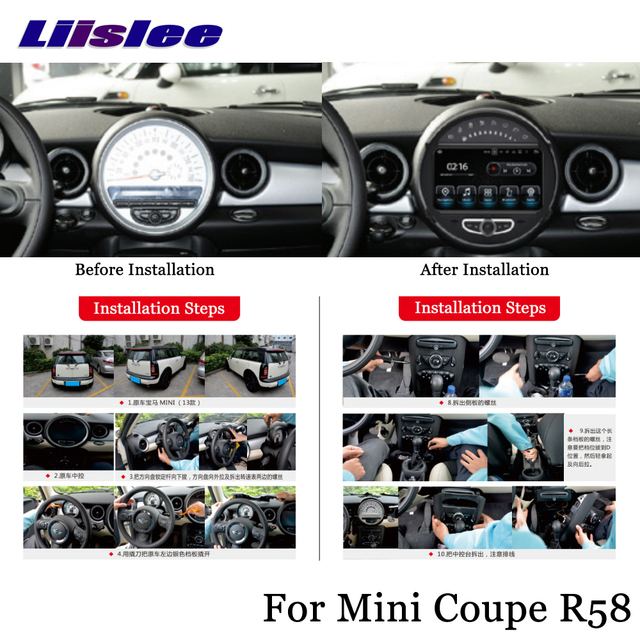 Liislee Car Android Multimedia For Mini Coupe R58 20122017 Stereo