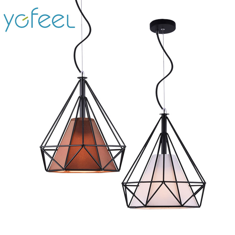 [YGFEEL] Modern Dining Room Pendant Lights Nordic Style Art Pyramid Shape Restaurant Cafe Cooffee Lamps E27 Holder AC110V/220V rectangular dining room pendant lights european style led crystal pendant lights modern restaurant lamp bar cafe creative lamps