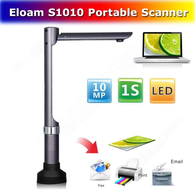 Livraison gratuite! S1010 Haute Vitesse A4 A5 Bureau Banque Document 10 M Pixel Portable Cam Scanner Visualiseur