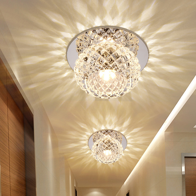 LED Porch Lights Aluminum Surface Mounted porch light Indoor flush mount Corridor lamp colorful LED Ceiling lamp Diameter 10CM