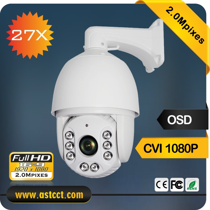 360 Degree Rotation 2.0Mpixels HD CVI PTZ Camera 27X Zoom CVI IR High Speed Dome Camera Night Vision 120M Security PTZ Camera 7 ptz middle high speed dome camera 1080p full hd 33x zoom ir 120m infrared night vision 4 in 1 hd ahd tvi cvi signal output