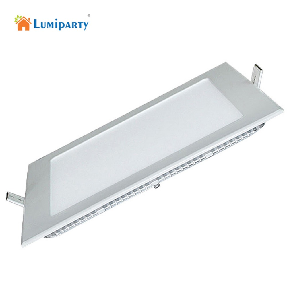 LumiParty Thickness 15W/18Wdimmable AC85-265V LED downlight Square LED panel Ceiling Recessed Light bulb lamp lumiparty 18w dimmable led lamp aluminum alloy ceiling panel led downlight remote controlling light bulb