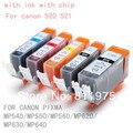 15 pcs igp 520bk cli 521 bk c m y 5 cor do cartucho de tinta para canon pixma mp540/mp550/mp560/mp620/mp630/mp640 printer