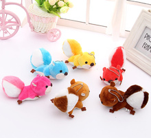 Kawaii 6Color- Little 12CM Squirrel Plush , Stuffed toy doll ; Keychain Pendant Plush Toy ; Wedding Bouquet Gift Toys