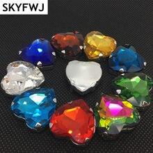 84a418bed Heart 12mm 14mm 16mm 27mm Claw Rhinestones wedding decorations Stones  Sewing Flatback Crystals Rhinestone For Dress