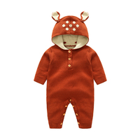 Wholesale 2017 Autumn Knitted Baby Boys Girls Clothes Set Long Sleeve Reindeer Newborn Baby Romper Jumpsuit
