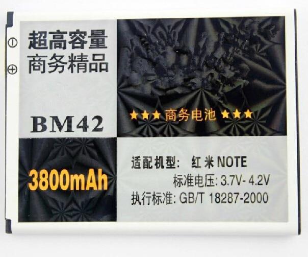 3800 mAh Haute Capacité Batterie De Remplacement pour Redmi Note Rechargeable Batteria pour Xiaomi BM42 livraison gratuite