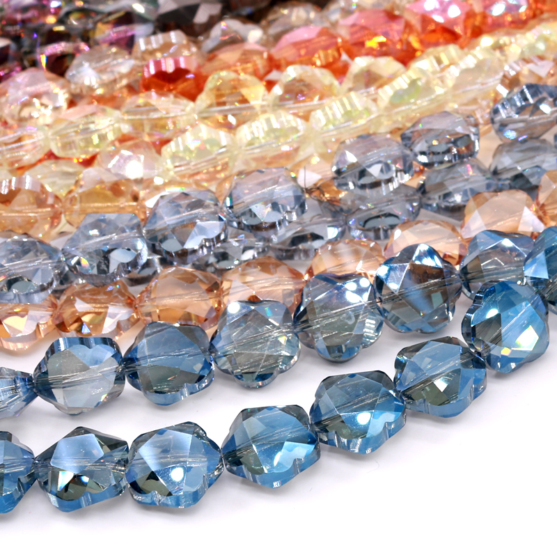 20Pcs Clear Rhinestone Crystal Diamante Rondelle Loose Spacer Beads 10mm