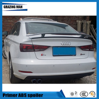 Hot Sale ABS Primer Unpainted Color A3 Rear Trunk Spoiler For A3 Spoiler With Light