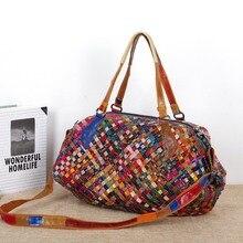 2016 casual big bag schultertasche aus echtem leder handtasche frauen tragbare kreuzkörper tasche schaffell strick