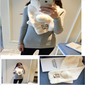 2016 Mulheres Inverno Quente Aniversários Presente frete grátis Coelho cabelo Cachecol