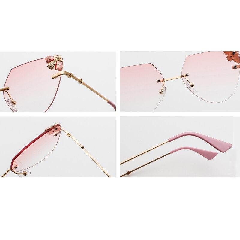 Rhinestone Cat Eye Sunglasses Ladies Triangle detail (11)
