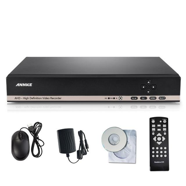 Annke cctv dvr 8ch onvif gravador de vídeo h.264 p2p ahd dvr para câmera ahd-m 960 h d1 rede híbrida ahdvr 720 p gravador de cctv