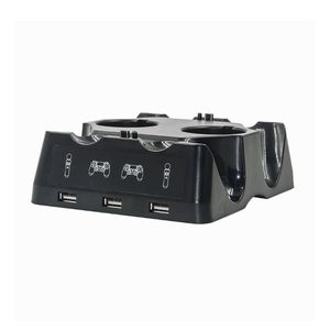 Image 3 - جهاز شحن محطة شاحن مهد شاحن يو اس بي حامل حامل ل بلاي ستيشن 4 PS4 سليم برو PS VR PS نقل الملحقات