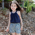 2-16 T 2016 de la ropa del verano 100% algodón chaleco y pantalones cortos de 2 unidades de los cabritos determinados niños conjunto twinset ocasional