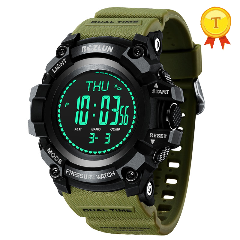 цена на New arrival smartwatch stopwatch weather forecast support compass barometer altimeter alarm clock thermometer Luminous display