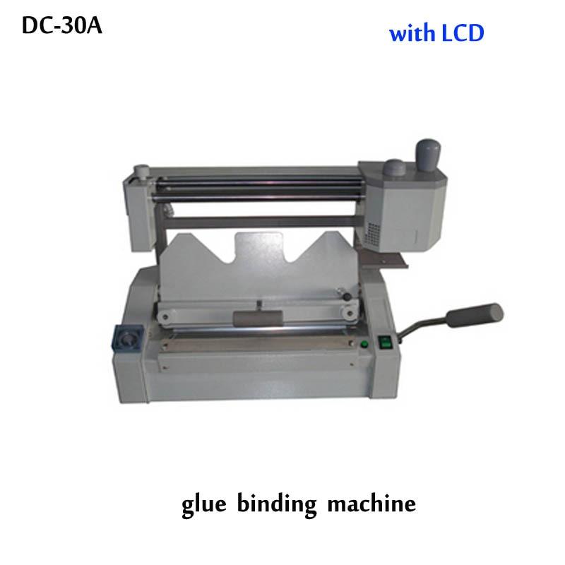 A3 multi-functional book binding machine,perfect glue binding machine with LCD,glue book binder machine  цены