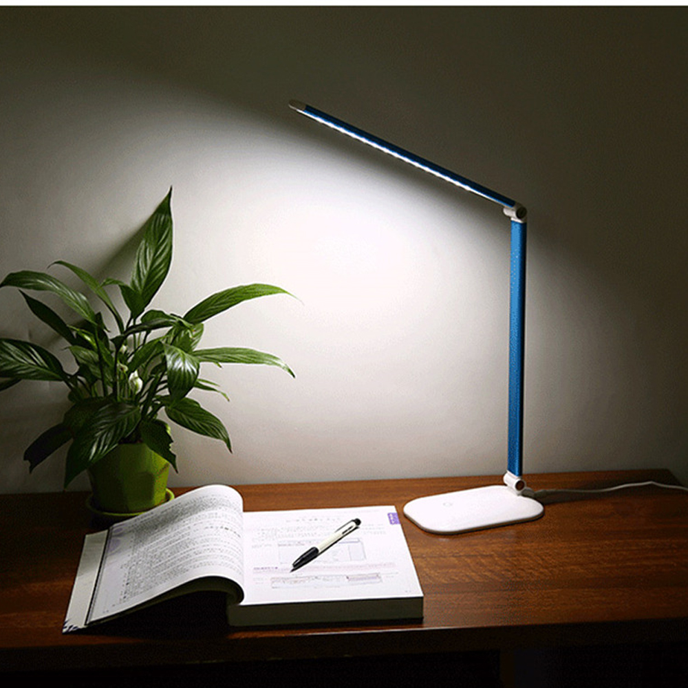 Office LED Rechargeable Desk Lamp Foldable Touch Dimmer Table Light Student Study Reading Eye Protect Lamps 3 Levels Brightness usb rechargeable foldable touch dimming desk lamp 42 led 3 brightness adjustable eye protect ultra thin reading study lamp
