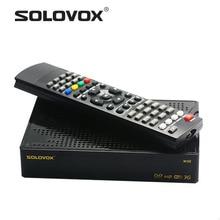 1ชิ้นจัดส่งฟรีต้นฉบับSOLOVOX M3S 1080จุดFull HD IRสายรับสัญญาณดาวเทียมDVBสนับสนุนOupron CCCAM/MGCAM/NEWCAMเว็บทีวี