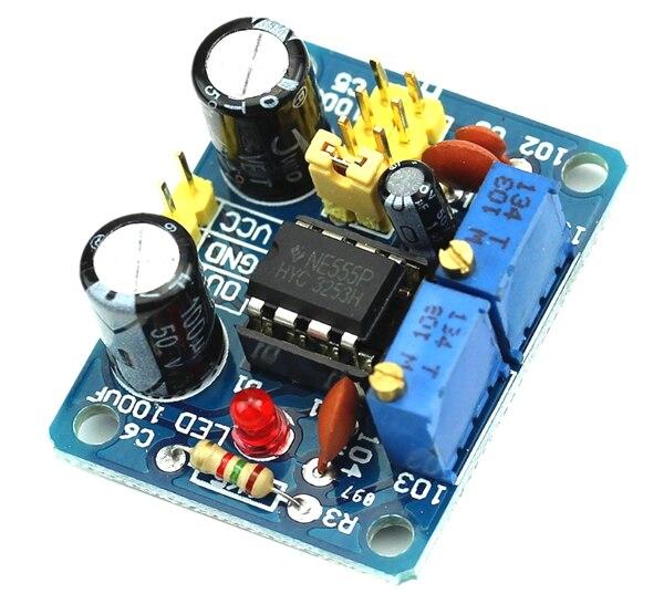 5 pz NE555 Kit FAI DA TE Duty Cycle e Frequenza del Modulo Regolabile Generatore di Impulsi ad Onda Quadra per Arduio