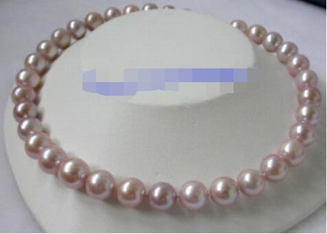 Luster 12mm pink white purple freshwater cultured pearls necklaceLuster 12mm pink white purple freshwater cultured pearls necklace
