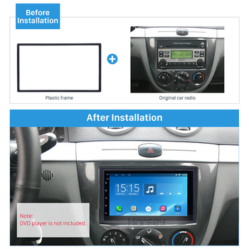 Harfey Universal 178*100mm Vehicle 2Din GPS Autoradio Fascia Frame for HONDA FIT Jazz Stereo Panel Dash Trim Installation Kit image