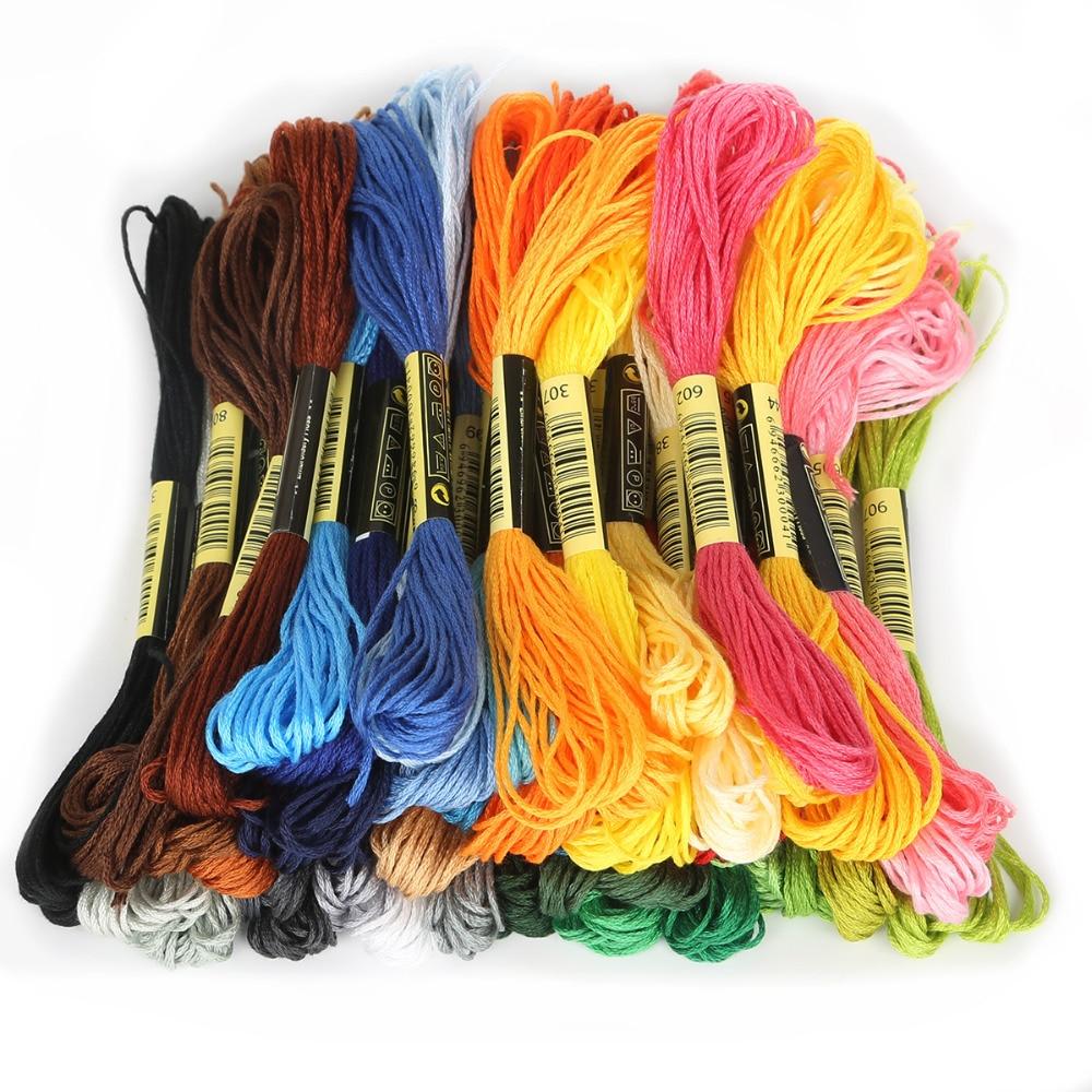 Вышивка с нитками в комплекте