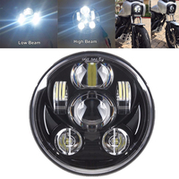 for Harley Davidson treet Sportster Softail Dyna Touring Road King Fat Boy 5 3/4 5.75 inch Motorcycle Led Headlight Light Hi Lo