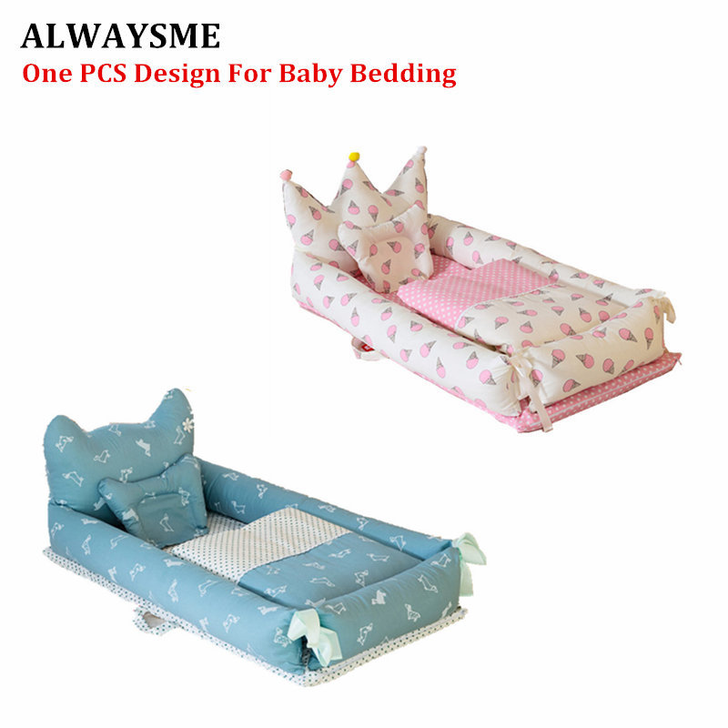 ALWAYSME 90X55CM Baby Bedding Accessories Quilt Pillow Sheets Bumpers Co Sleeping Crib Cradle Bedside Cribs Travel