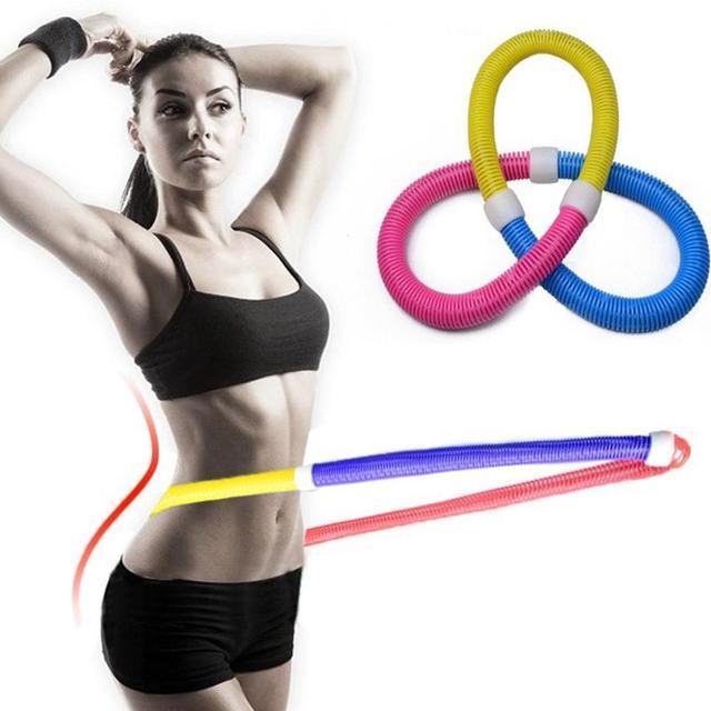 Casa Ao Ar Livre Exercício Ponderada Primavera Hula Hula Hoop Hoop Macio Cintura Musculação Aptidão da Perda de Peso Emagrecimento Equipamentos de Fitness GYM