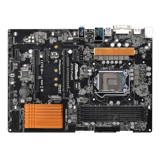 Original placa base para ASRock Z170 Pro4S LGA 1151 DDR4 64GB para 14nm CPU Z170 escritorio motherborad envío gratis