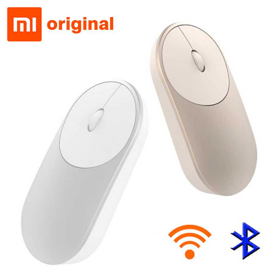 Original Xiaomi Mi Wireless Mouse Portable Game Mouses Aluminium Alloy ABS Material 2.4GHz WiFi Bluetooth 4.0 Control Connect цены