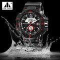 50 м водонепроницаемые мужские спортивные часы Relogio Masculino 2016 горячие мужчины силиконовые спортивные часы Reloj S противоударно электронных наручных часов