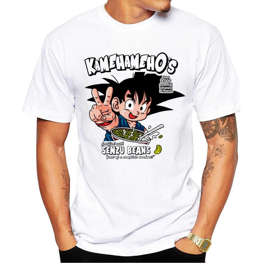 2018 Мужская футболка с коротким рукавом KamehamehO Новая модная футболка с принтом Сон Гоку крутые футболки с круглым вырезом